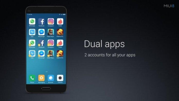 MIUI 8 India Dual Apps