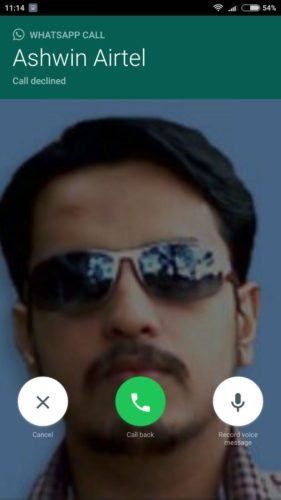whatsapp callback voice message