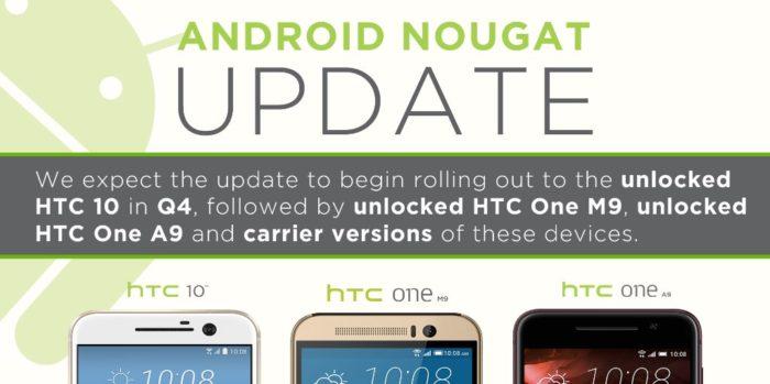 HTC 10 One A9 M9 Nougat
