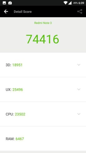 Redmi Note 3 CM 13 Antutu benchmark e1471588841677 - How to flash Official Cyanogenmod 13 on the Redmi Note 3 Snapdragon