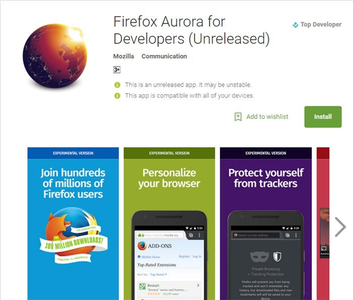 firefox-aurora-android