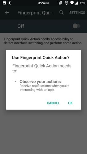 Fingerprint Quick Action 5 - How to enable fingerprint scanner gestures on any Android phone