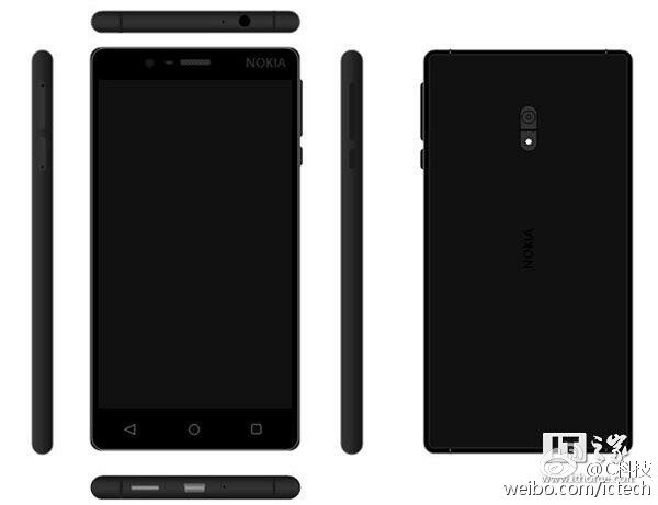 Nokia D1C render black - Nokia smartphones on Android OS confirmed for H1 2017 by HMD Global
