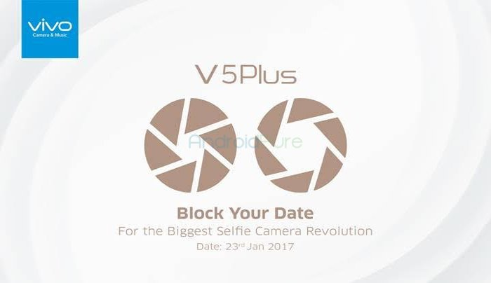 Vivo V5 Plus launch - Vivo V5 Plus with Dual front camera to launch on 23rd January in India