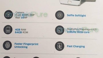 Vivo V5 Plus Specs - Exclusive: Vivo V5 Plus Specifications leaked ahead of official launch