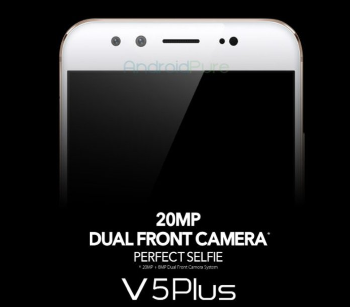 "vivo V5 plus Dual Camera  - Vivo V5 Plus to come with 5.5"" FHD, 20 MP + 8 MP dual front camera, powered by Snapdragon 652"