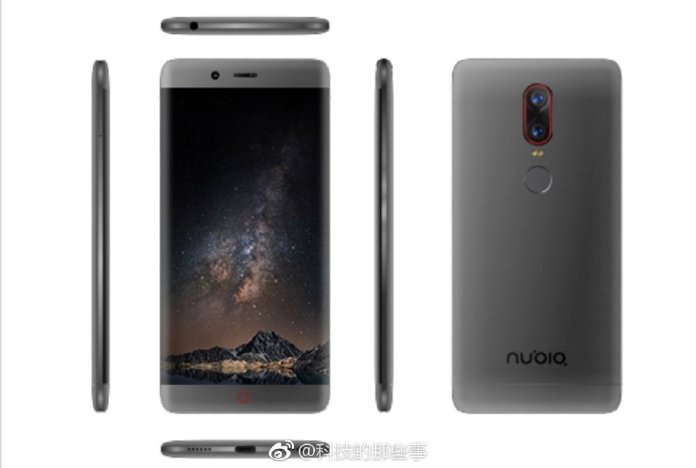 Nubia Z17 Press render - Nubia Z17 NX563J with Snapdragon 835, 6 GB RAM spotted on Antutu; Alleged renders leak