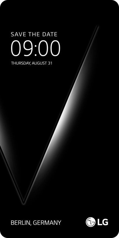 LG V30 official launch invite - LG V30 to be unveiled on August 31 at IFA Berlin