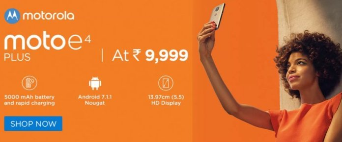 Moto E4 Plus Price - Moto E4 Plus with 5,000 mAh battery launched at Rs. 9,999 in India