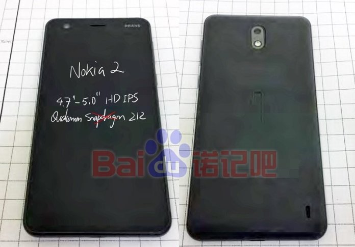 Nokia 2 Prototype - Alleged Nokia 2 Prototype real image of Front and Rear leaks