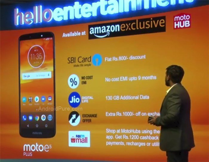 Moto E5 Plus cashback offers