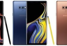 Galaxy Note 9 colours