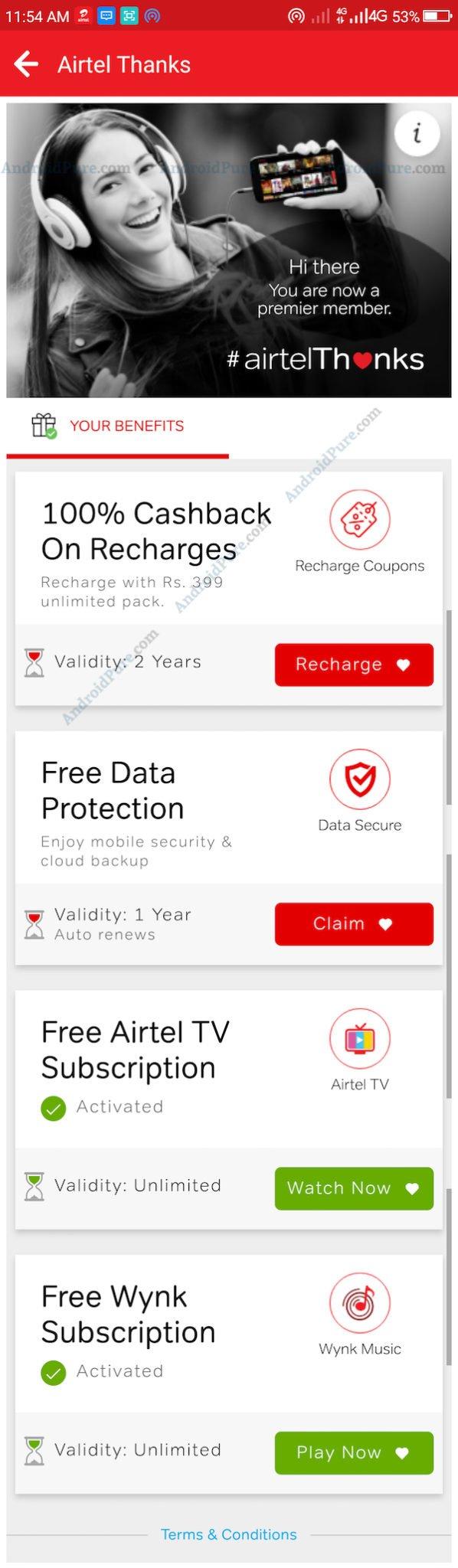Airtel Thanks - AndroidPure