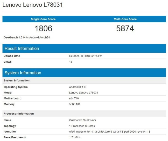 Lenovo Z5 Pro Specifications