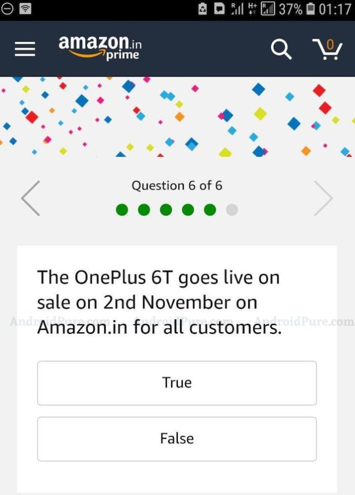 oneplus 6t sale OnePlus 6T to go on Sale on Nov 2nd in India 1