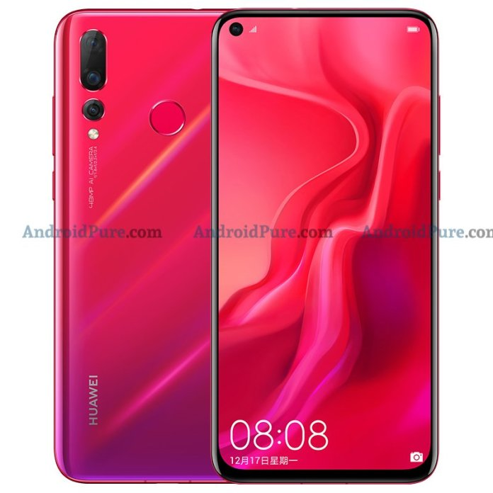 Huawei Nova 4 Red Exclusive: More Huawei Nova 4 HQ Press renders leak ahead of official launch 1