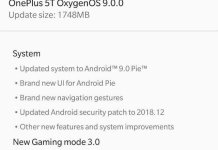 OxygenOS 9 Android Pie Update for OnePlus 5T and OnePlus 5