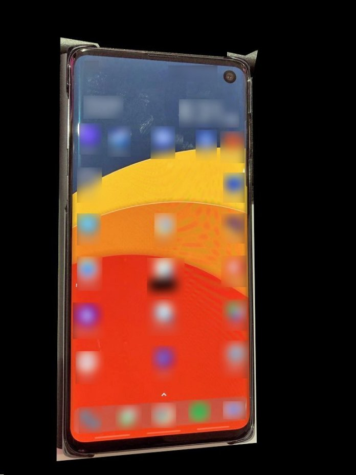 Galaxy s10 leaked photo
