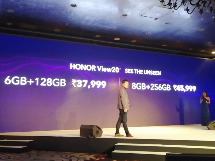 Honor View 20 price in India