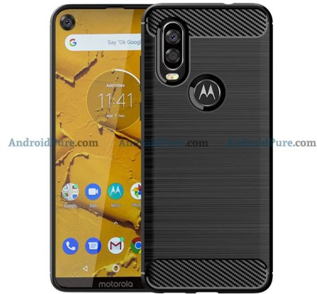 Moto P40 c Moto P40 Case Renders confirm the punch hole camera and earlier leaks 1