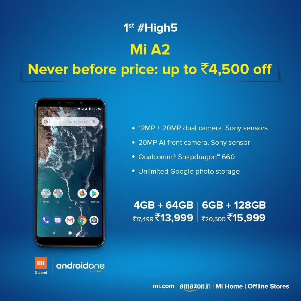 Xiaomi Mi A2 price drop - AndroidPure