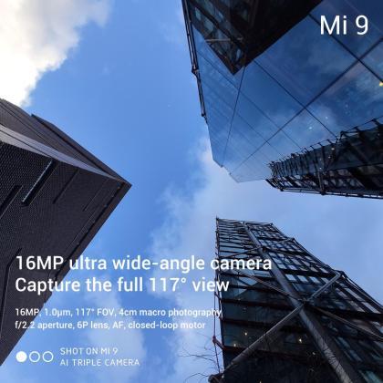 Xiaomi Mi 9 tech specs 16MP camera