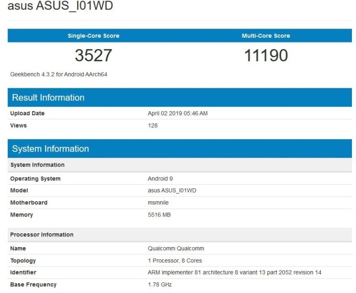 ASUS Zenfone 6Z benchmark leaked