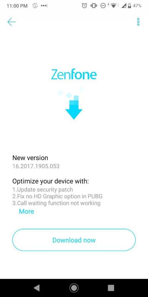 ASUS Zenfone Max Pro M1 May 2019 Update
