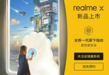 Realme X In-display fingerprint scanner