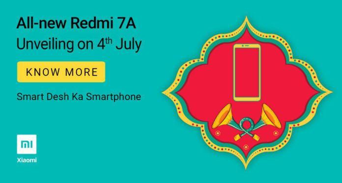 Redmi 7a india launch