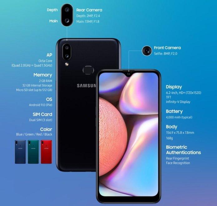 Samsung Galaxy A10s Sepcs