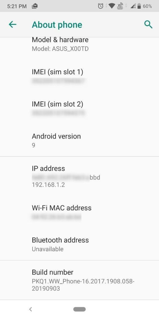 ASUS Zenfone Max Pro M1 WW-16.2017.1908.058 Update-5