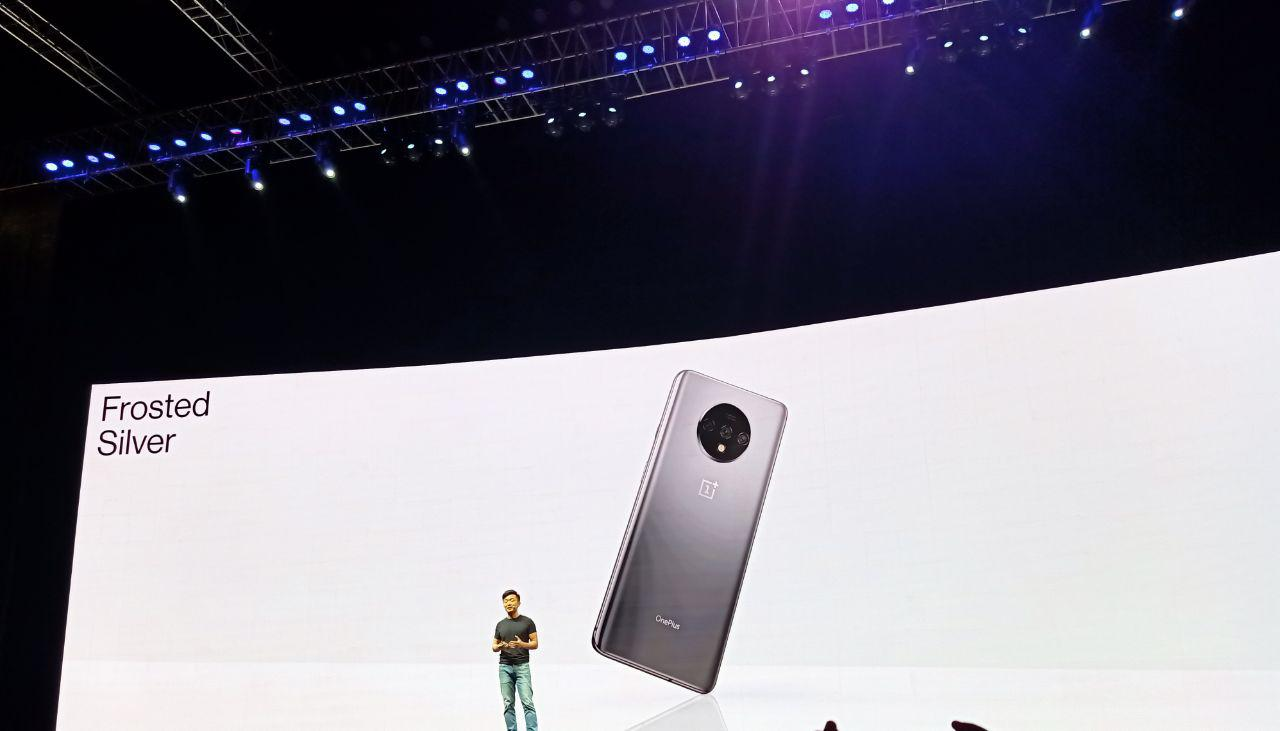 OnePlus 7T launch event Frosted Silver colour