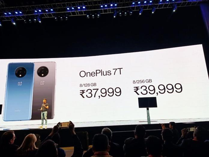 OnePlus 7T price launch event photo