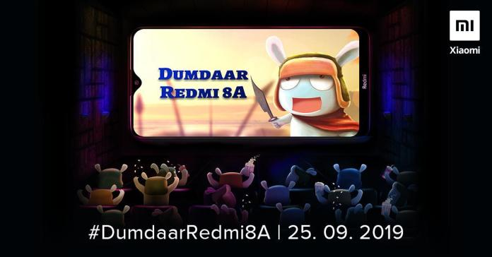 Redmi 8A India launch date