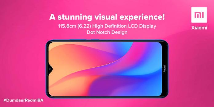 Redmi 8A display specs