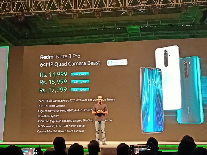 Redmi Note 8 pro price in India