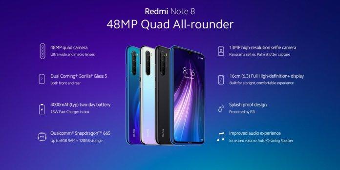Redmi Note 8 specs