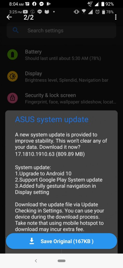Android 10 update for asus 6z rolls out