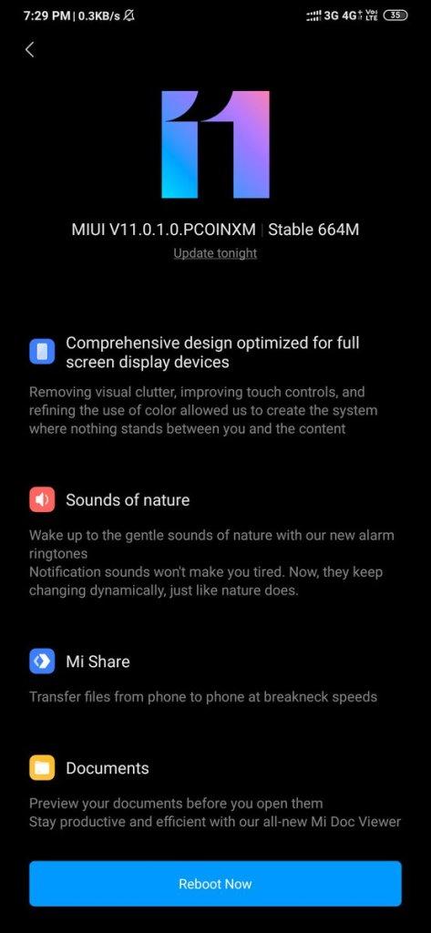MIUI 11 Update for Redmi Note 8