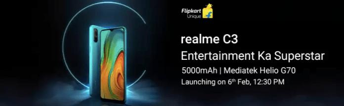 Realme c3 launch specs