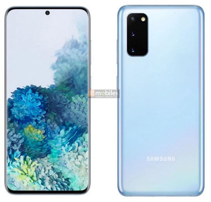 Samsung Galaxy S20 series - S20 Cloud Blue