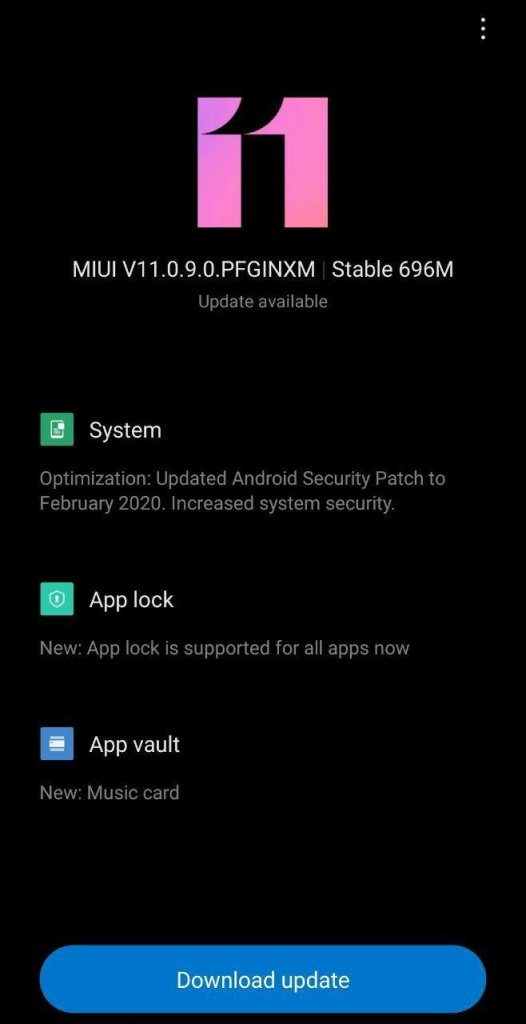MIUI 11.0.9.0 Update for Redmi Note 7 rolls out