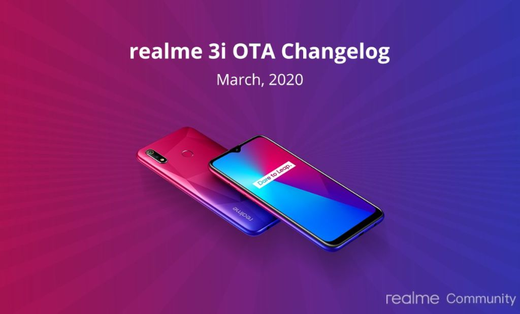 March Update For Realme 3i And Realme 3