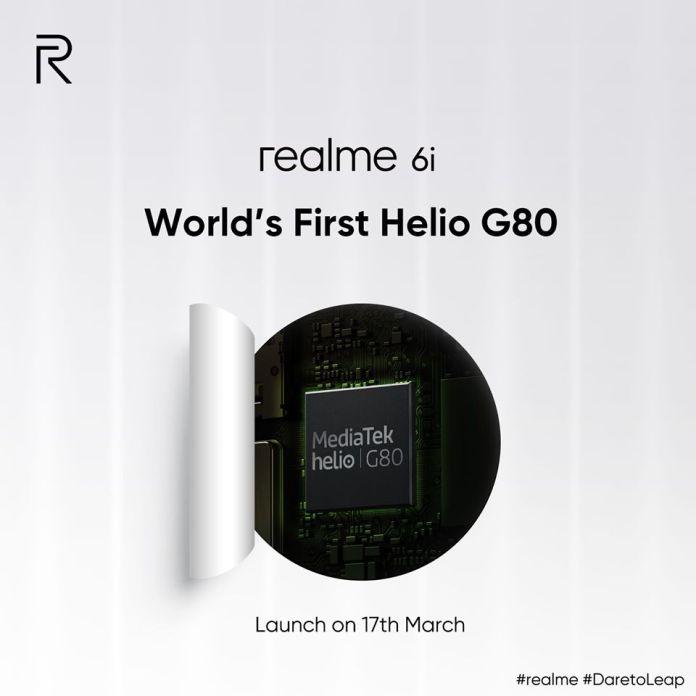 Realme 6i specs confirmed processor