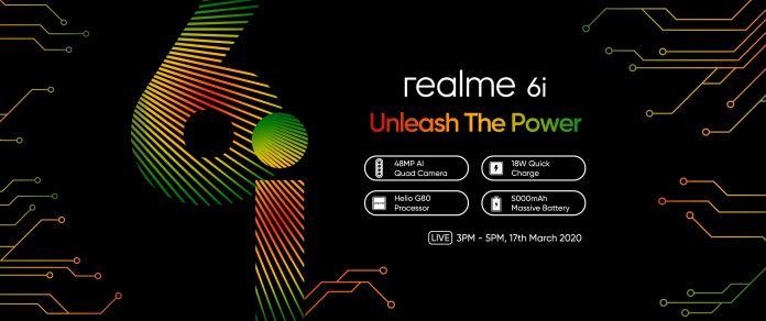 Realme 6i specs confirmed