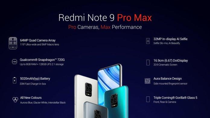 Redmi Note 9 Pro Max specs