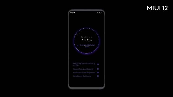 MIUI 12 Ultra Battery Saver features