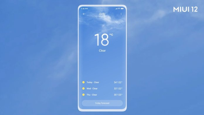 MIUI 12 Weather