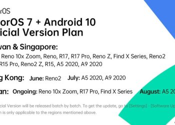 Oppo ColorOS 7 update roadmap with Android 10